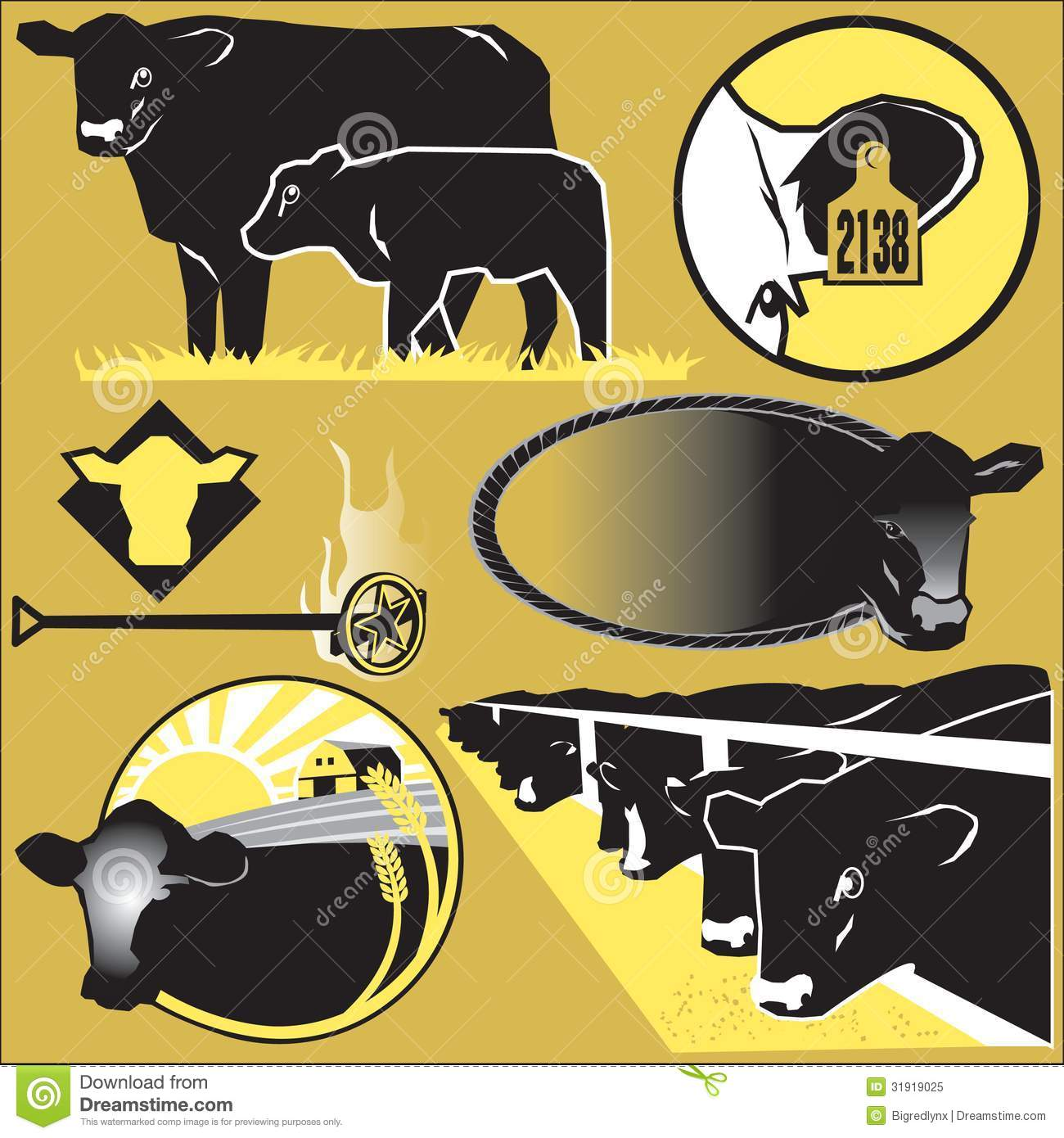 Cattle Clip Art Royalty Free Stock Photo.