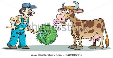 Cow Feed Stock Vectors, Images & Vector Art.