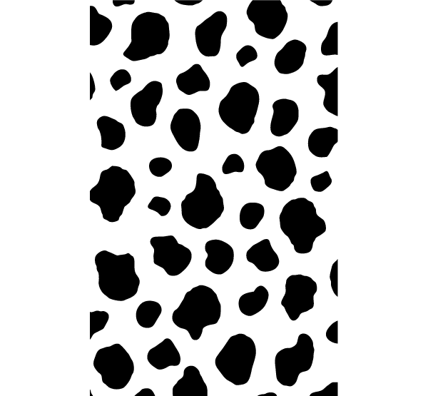 Cow print number clipart.