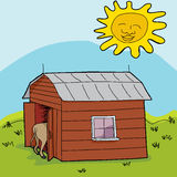 Cow Shed Stock Illustrations.