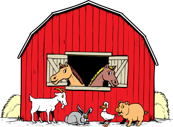 Barn Farm Cow Clipart.