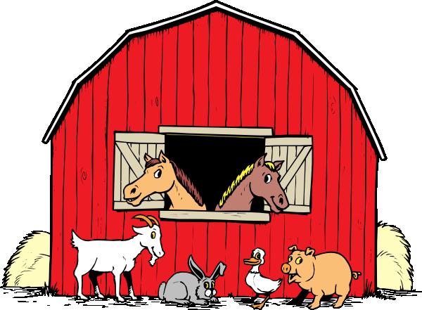 Barn Farm Cow Clipart.