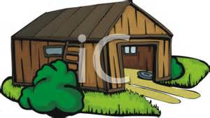 Royalty Free Shed Clipart, garden apartment building silhouette.