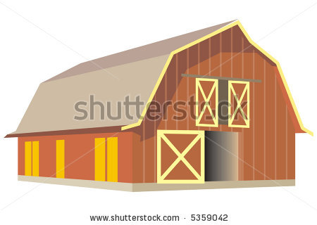 Cow Shed Clipart.