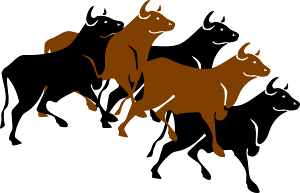 Herd Of Cattle Clipart.