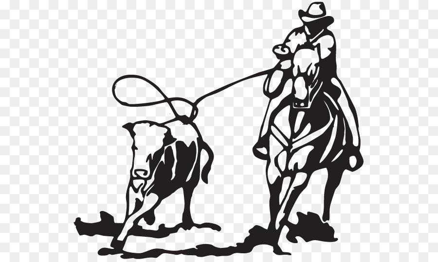 Team penning Ranch sorting Clip art Cattle Sticker.