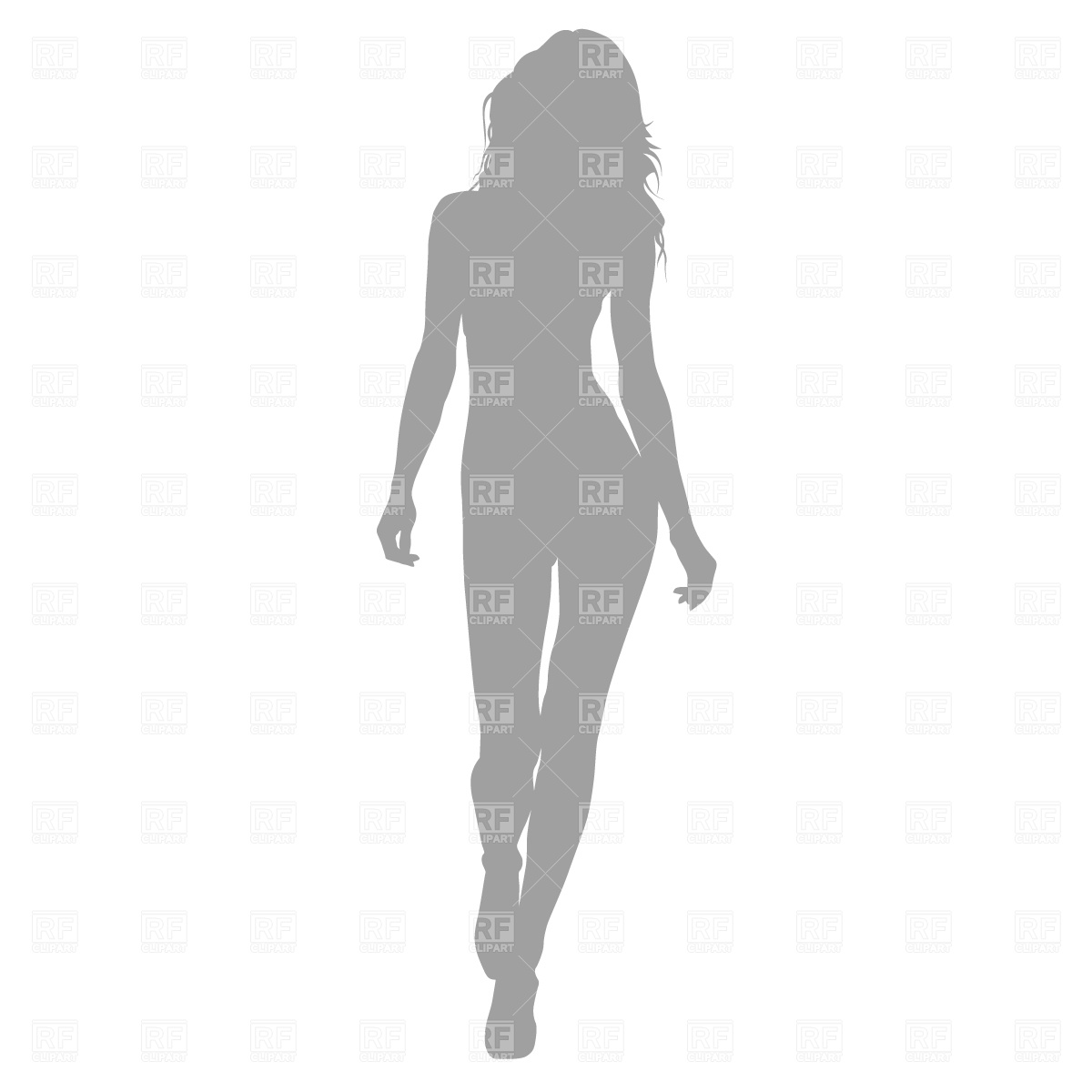 Fashion model on the catwalk Vector Image #365.