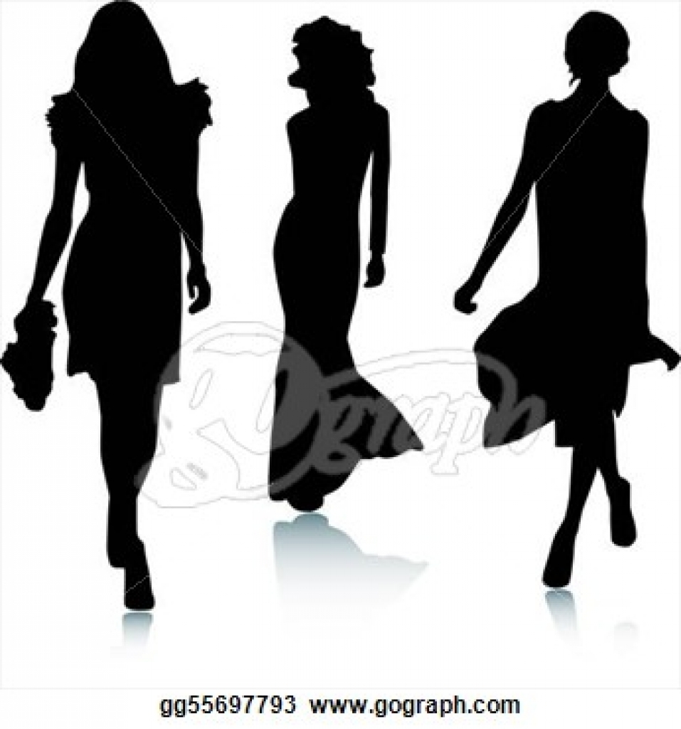 fashion model clip art royalty free gograph regarding catwalk.