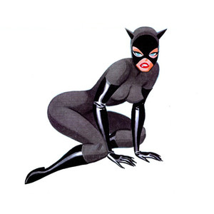Cat woman clipart.