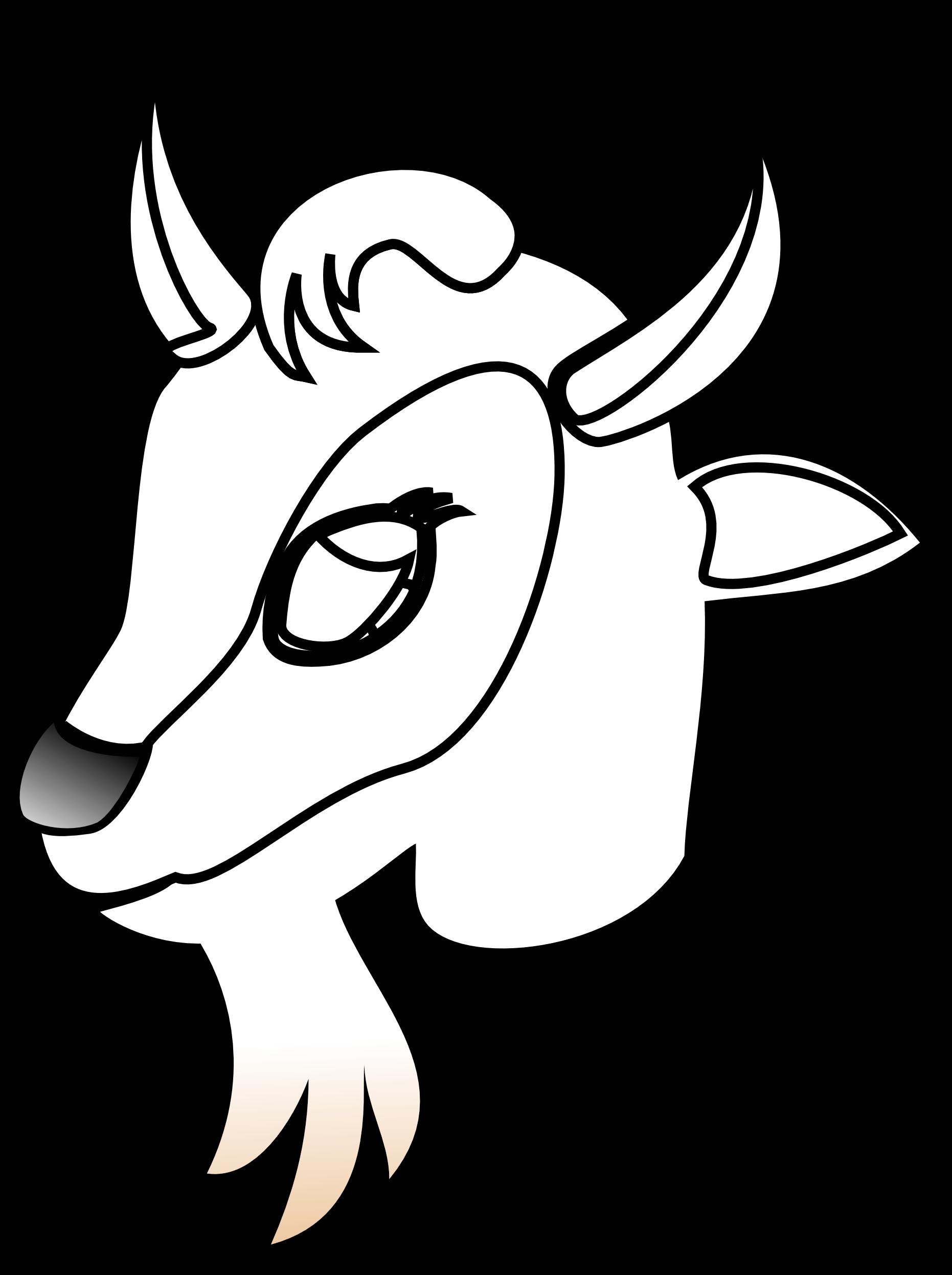Goat Clipart Goat Head.