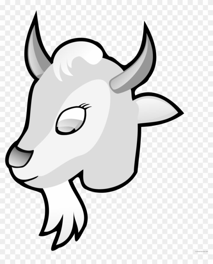 Goat Head Animal Free Black White Clipart Images.