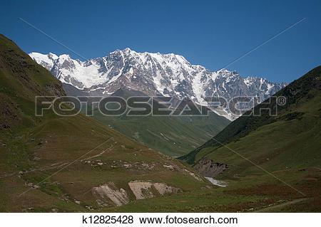 Pictures of Caucasus Mountains in Georgia k12825428.