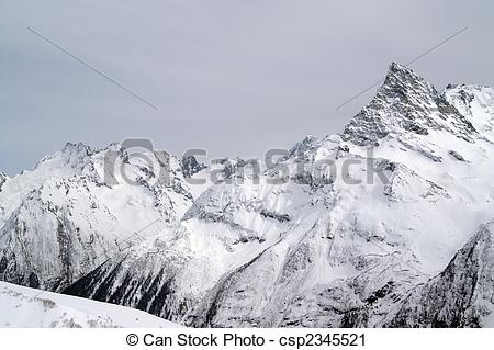 Stock Photography of Caucasus Mountains.