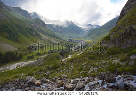 Caucasus Mountains Stock Images, Royalty.