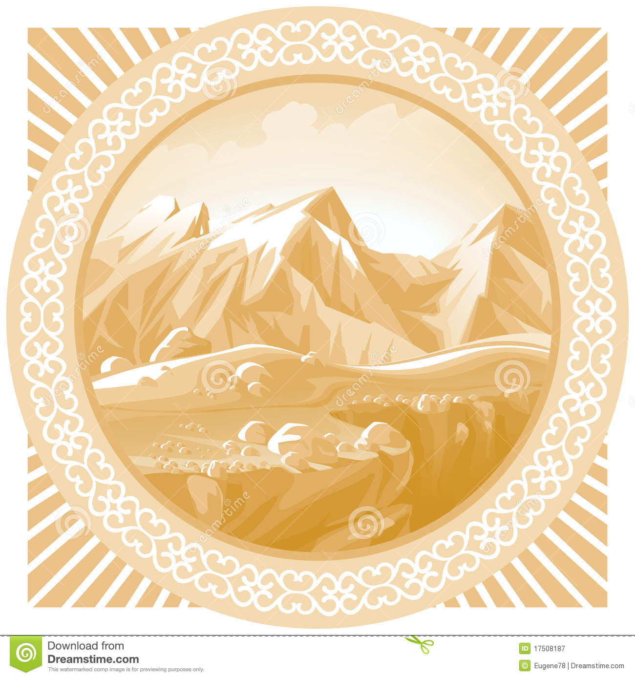 Caucasus Mountains In The Frame. Royalty Free Stock Photography.