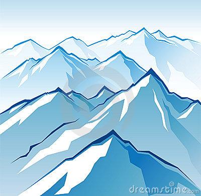 Ice mountain clipart.