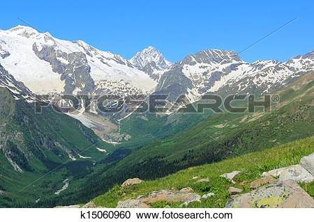Stock Illustrations of Caucasus mountains Dombai k15060960.