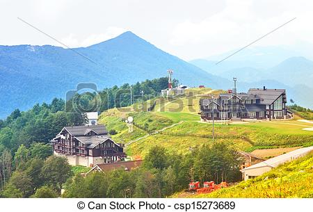 Pictures of Residence in National Park of Caucasus Mountains.