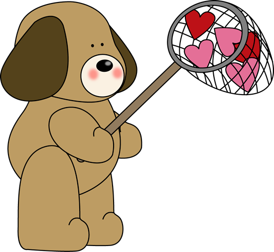 Valentine's Caught Love Clip Art.