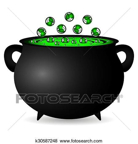 Cauldron witches potion Clip Art.