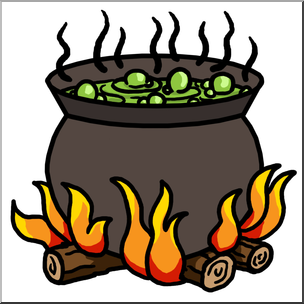 Clip Art: Cauldron Color I abcteach.com.