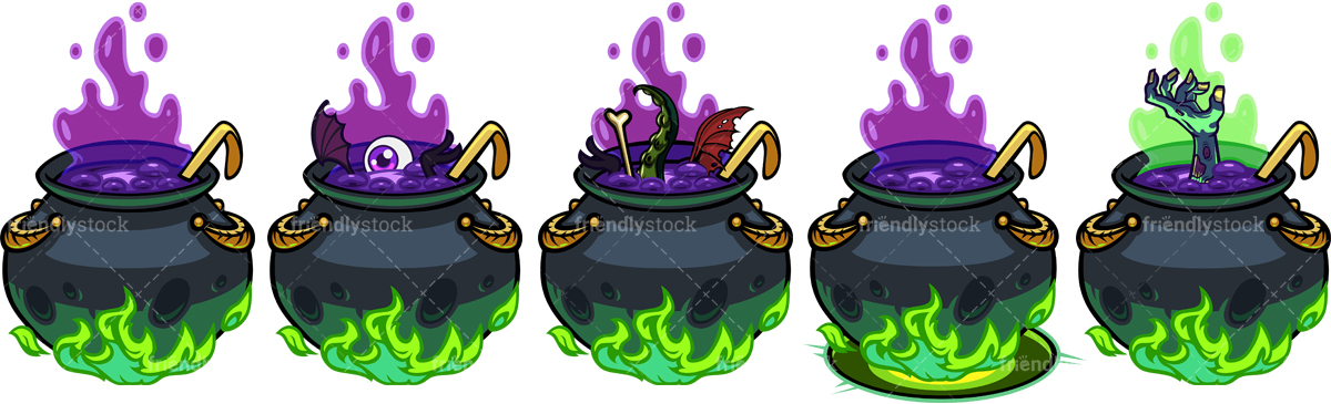 Creepy Witch Cauldrons Collection.