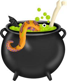 Cute witch cauldron clipart.