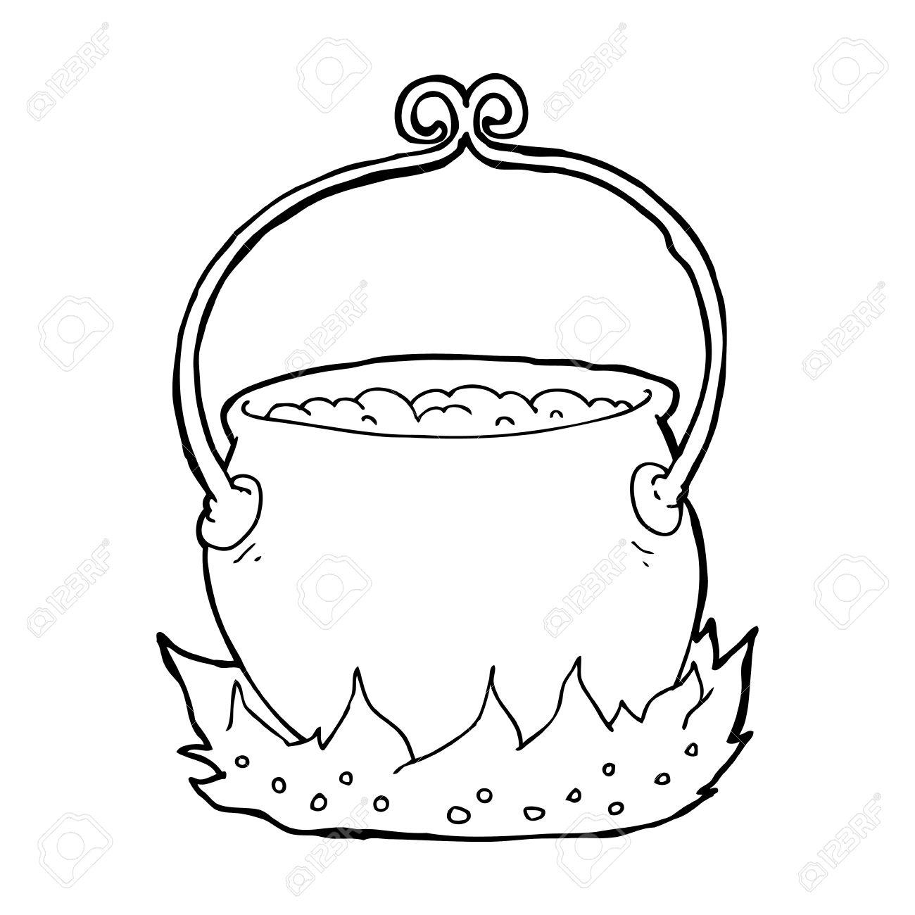 cartoon witch's cauldron.