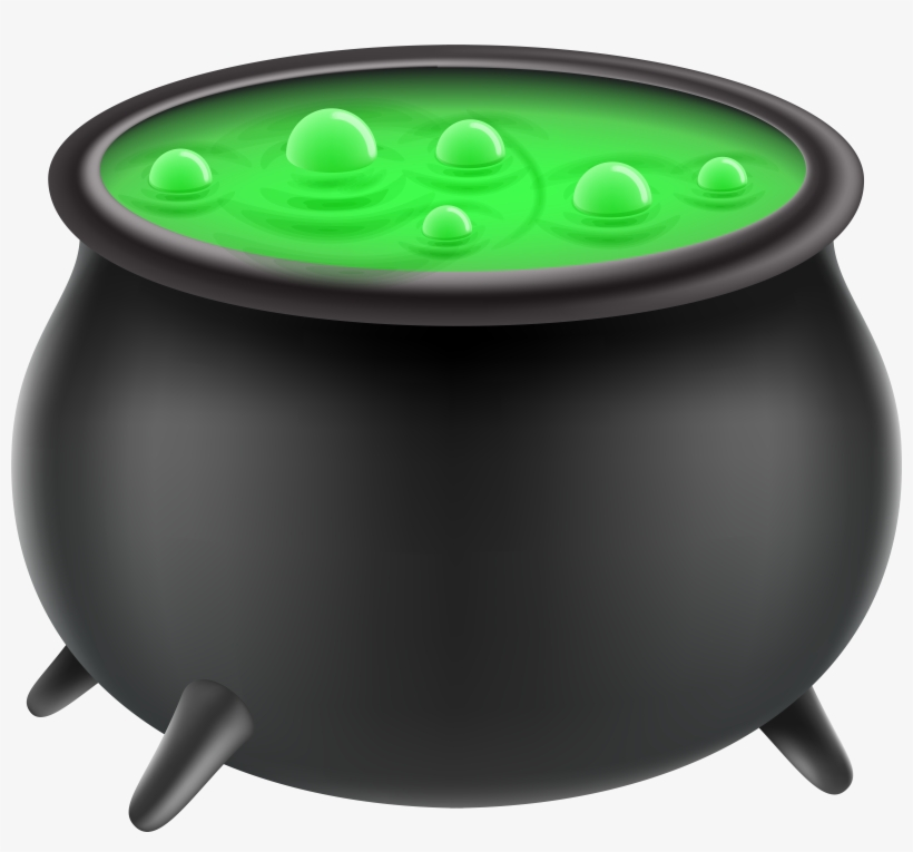 Halloween Witch Cauldron Png Clip Art Image.