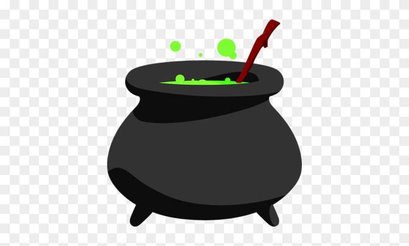 Cute Halloween Witch Pot Clipart.