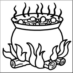 Clip Art: Cauldron B&W I abcteach.com.