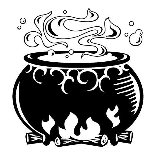 Cauldron clipart black and white 1 » Clipart Station.