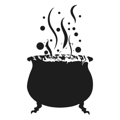 Witch cauldron silhouette.