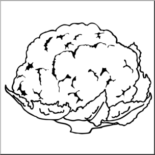 Best Of Cauliflower Clipart Black And White.