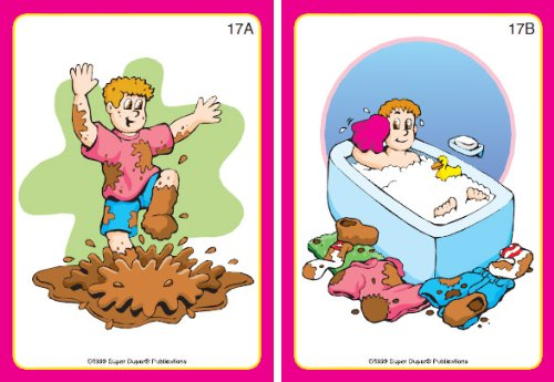 Super Duper Publications Cause and Effect Fun Deck Flash Cards Educational  Learning Resource for Children.