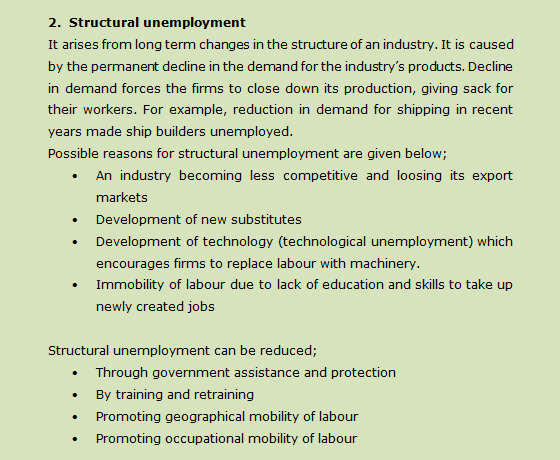 Topic 18: Unemployment: Types, Causes and Remedies.