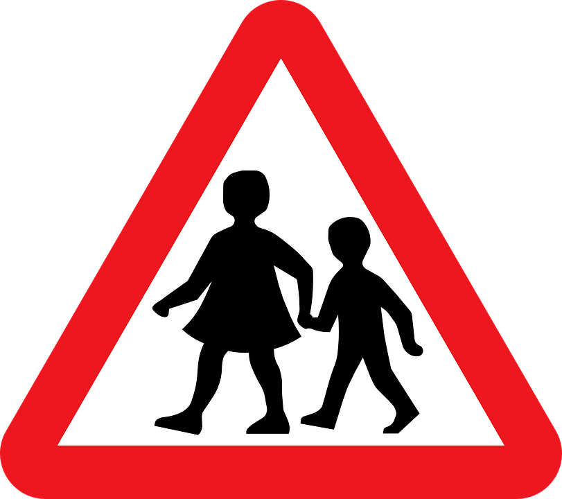 Free vector graphic: School Children, Crossing Zone.