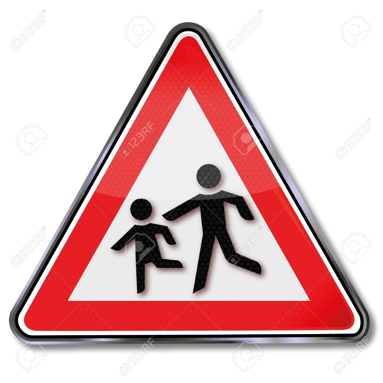 Road Sign Caution Children Royalty Free Cliparts, Vectors, And.