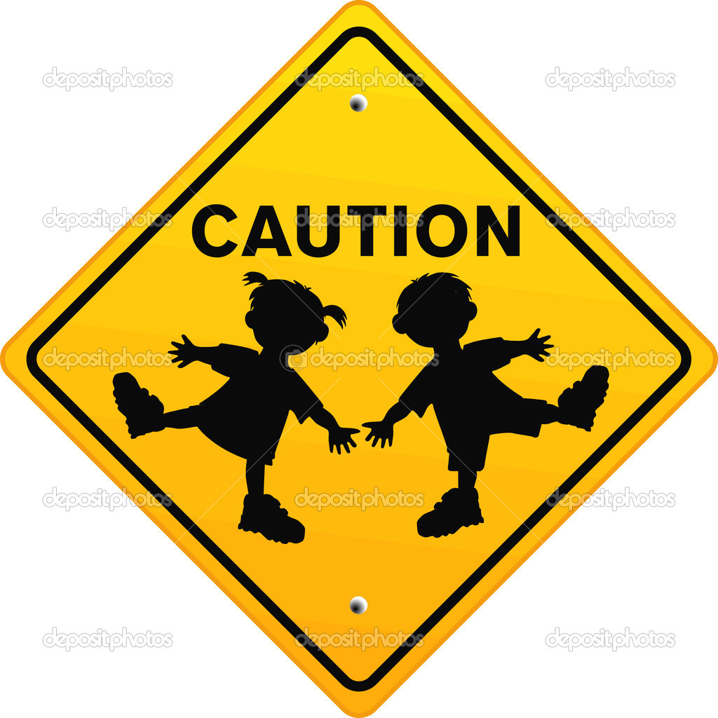Caution Children — Stock Vector © scusi0.