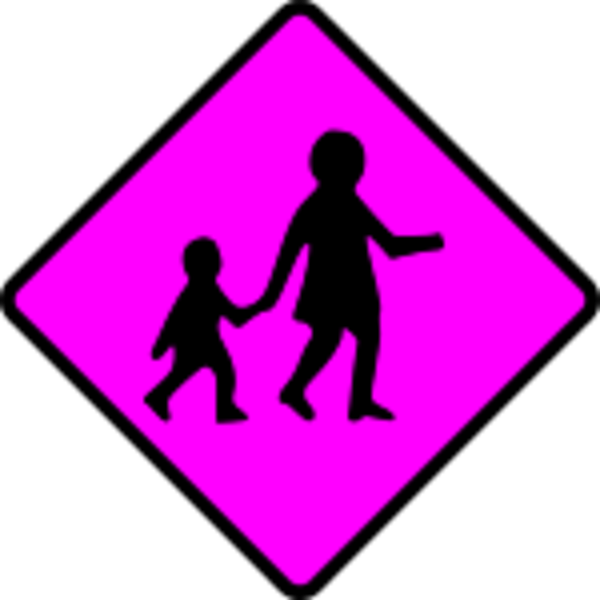 caution children crossing.