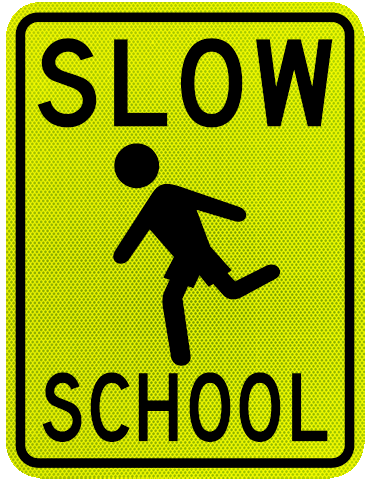 Slow Children at Play Signs, Caution Children at Play Signs.