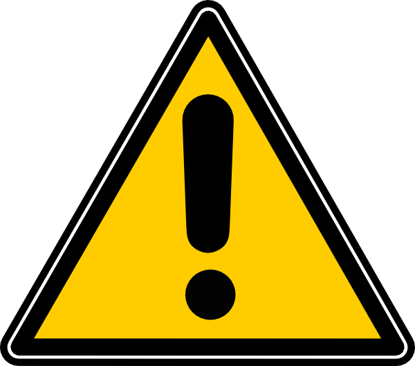 Caution Icon Clip Art at Clker.com.