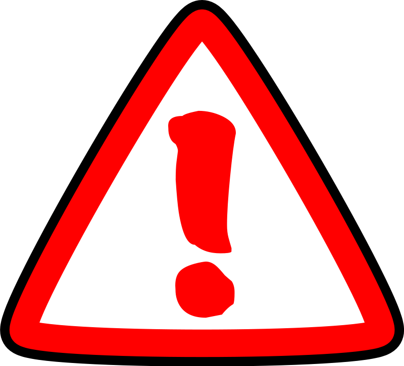 Clipart warning caution.