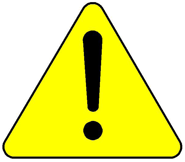 Cautionary Warning Caution clipart free image.