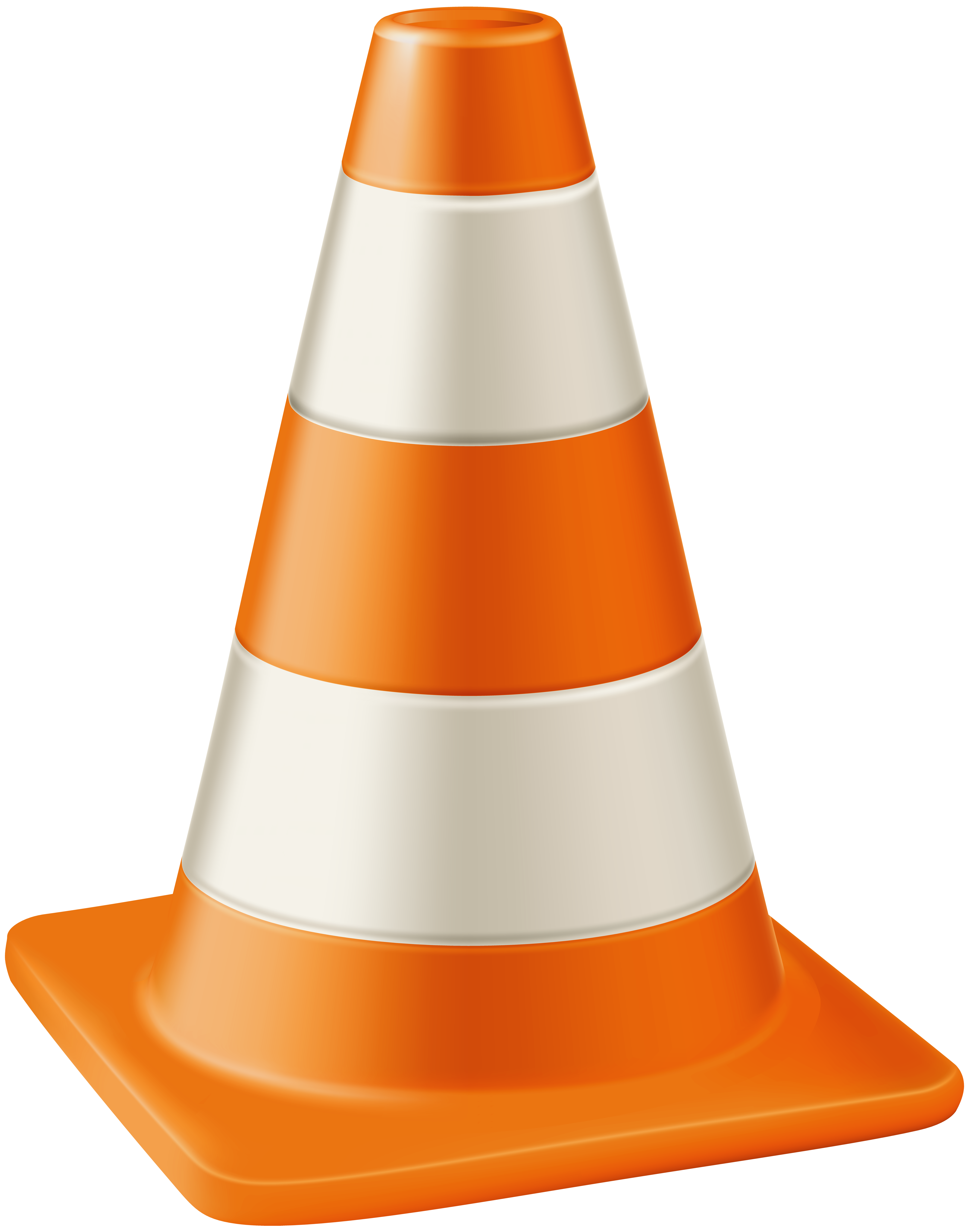 Traffic Cone Transparent PNG Clip Art Image.