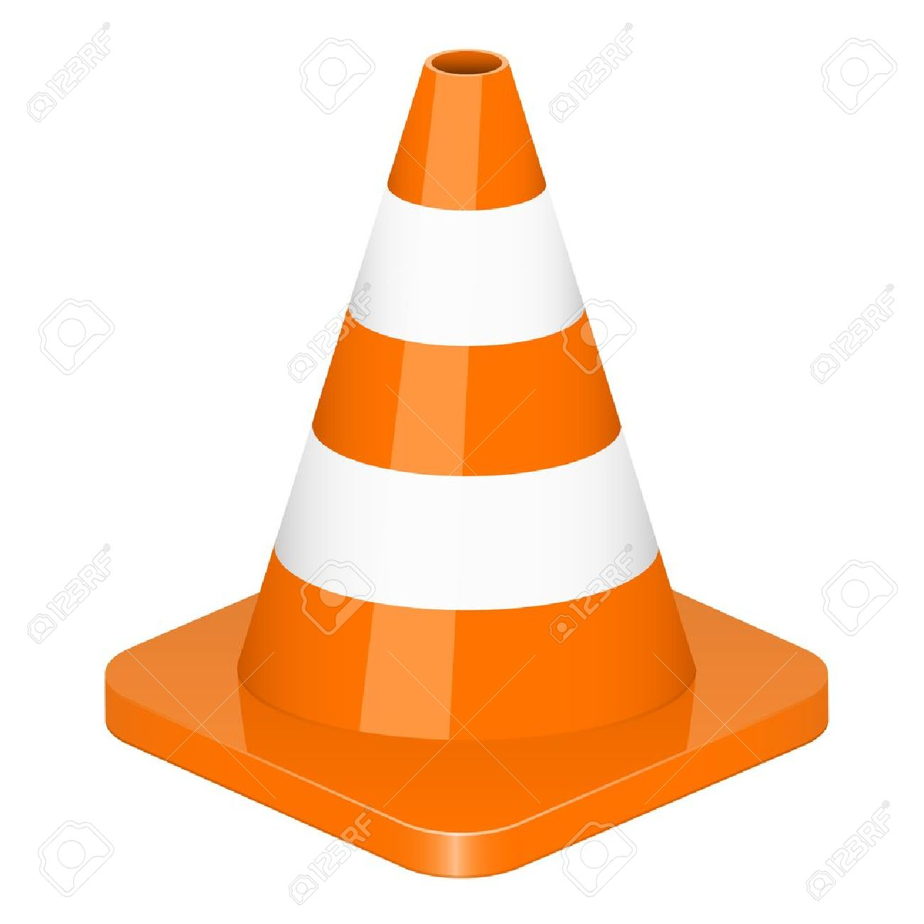 Vector illustration of traffic cone.