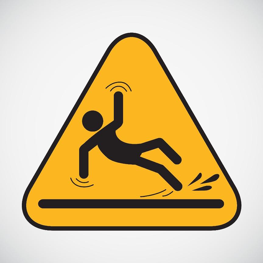 Slip And Fall Hazard Clipart.