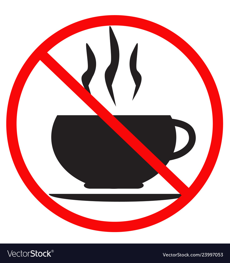 No coffee cup icon on white background flat vector image.