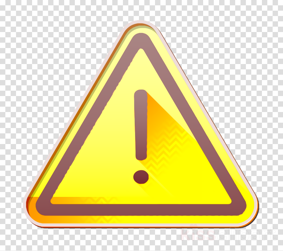 Caution icon UI icon Risk icon clipart.