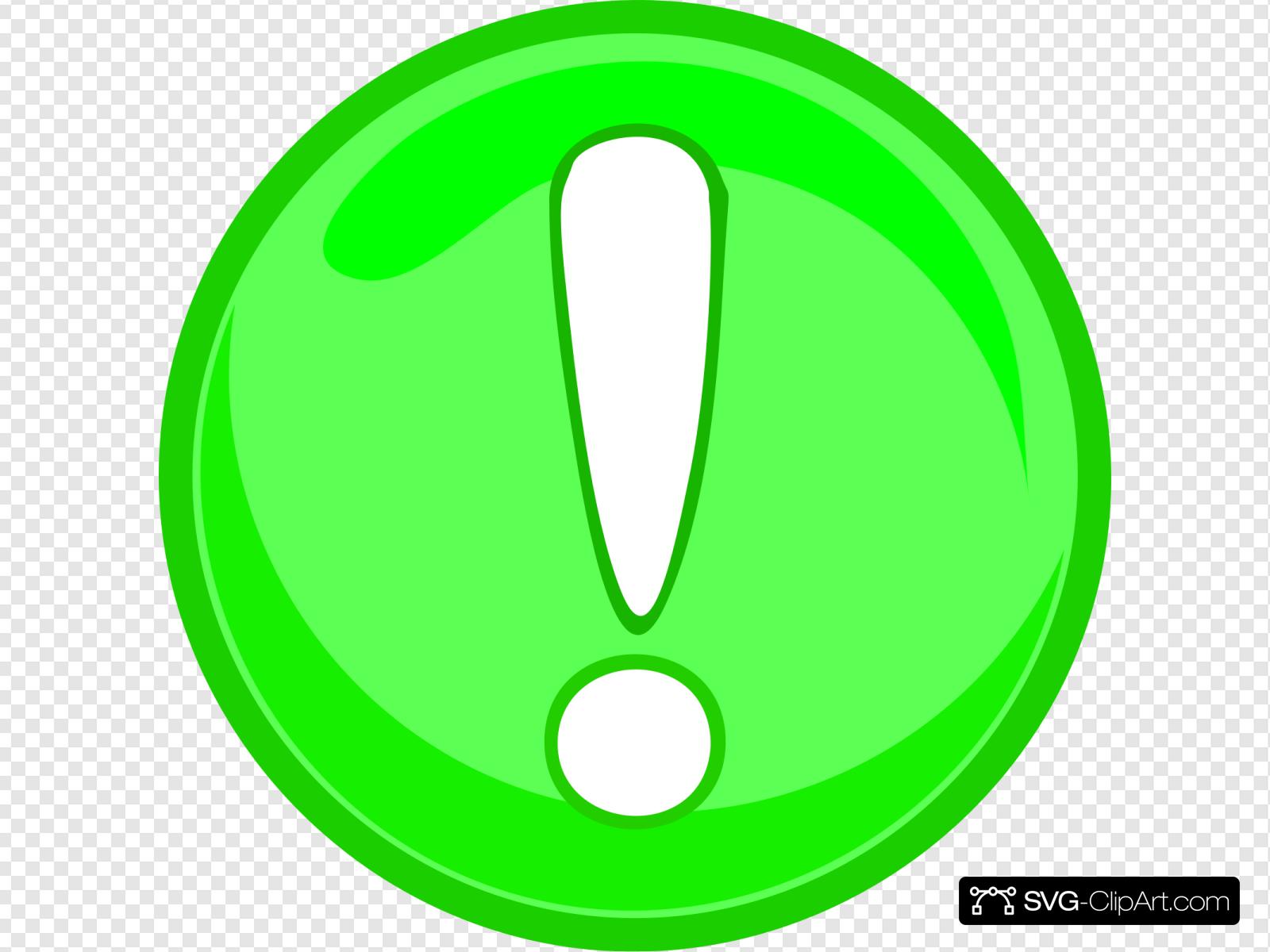 Green Caution Icon Clip art, Icon and SVG.